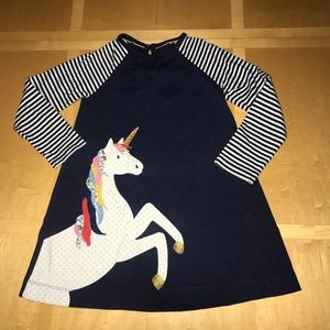 👧🏼 Mini Boden Unicorn Appliqué Dress
